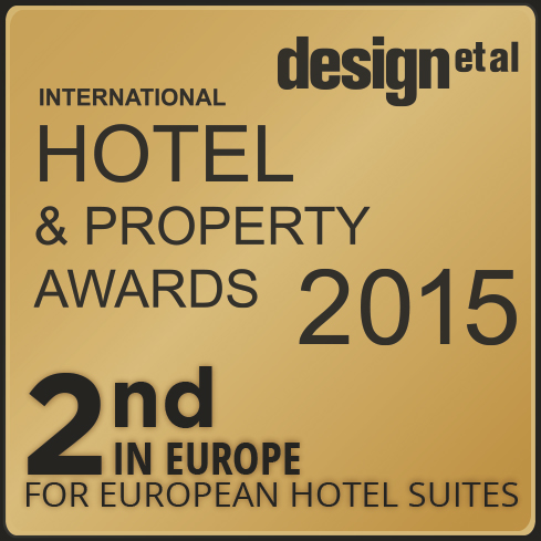 Awarded 2nd in Europe for European and Hotel Suites – International Hotel & Property Awards 2015