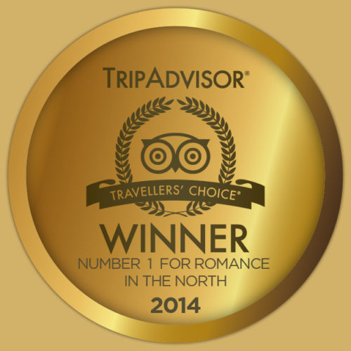 1st Place Winner – No.1 for Romance in the North – Trip Advisor Awards 2014