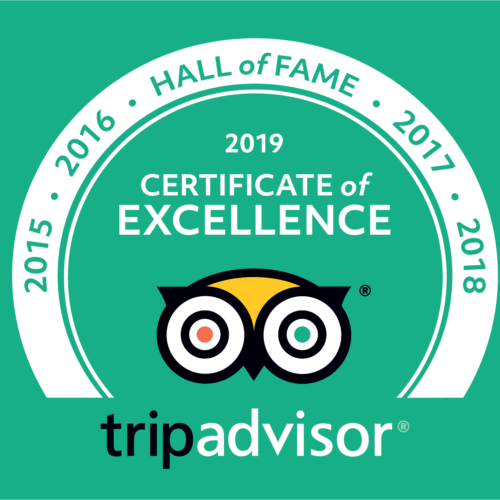 Trip Advisor Hall of Fame 2019