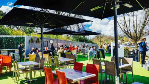 Lake View Garden Bar - Outdoor dining in the Lake District - Terrace area