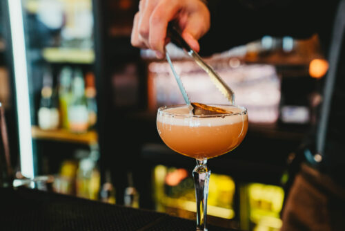 The Fizzy Tarte - Outdoor dining in the Lake District - Pornstar Martini