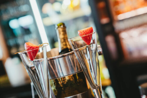 The Fizzy Tarte - Outdoor dining in the Lake District - Bucket of Champagne