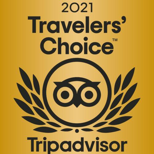TripAdvisor 2021 Travellers' Choice Award Winner